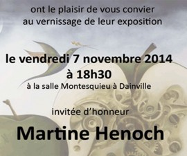 vernissage de martine henoch sur arras