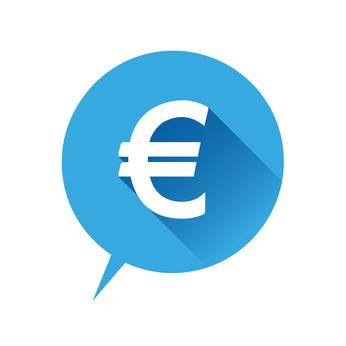 coût et tarif bleu dans bulle