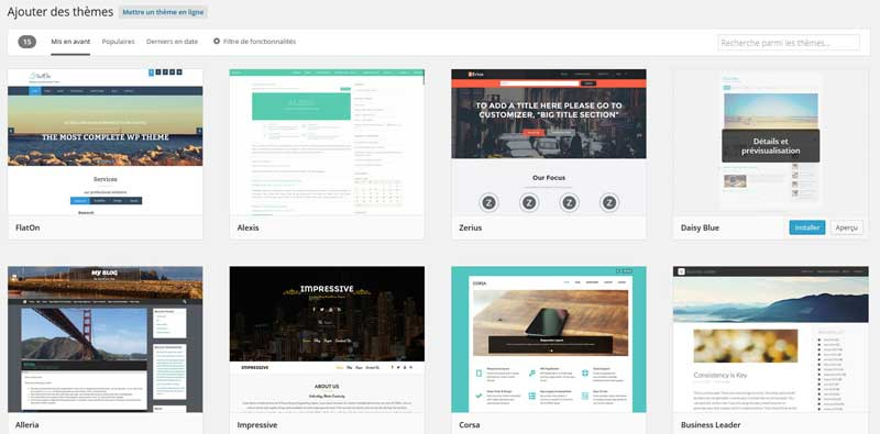 AJoutetr un thème dans WordPress