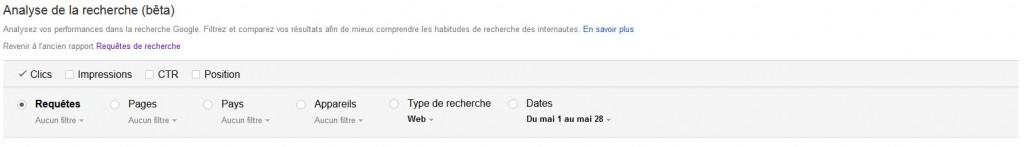 requêtes Google search console