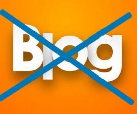 Raisons de ne pas faire de blog