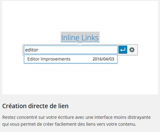 creation directe de lien wp